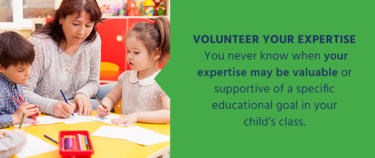 Volunteer your expertise